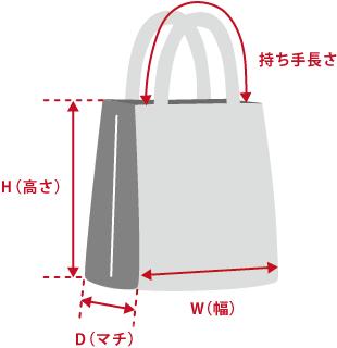 バッグ商品仕上がり寸法基準